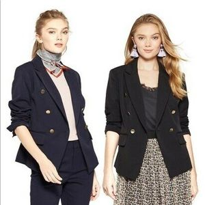 A New Day Navy Double Breasted Blazer Jacket
